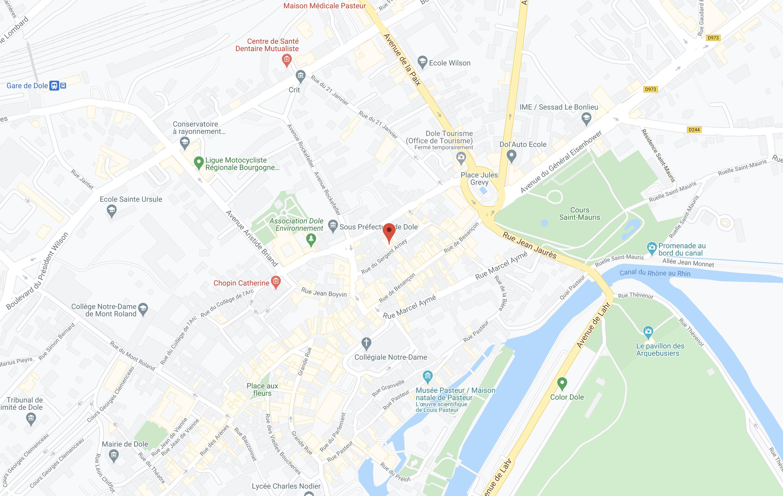mapRestaurant Dole Centre Ville